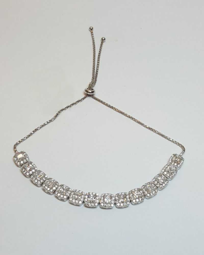 baget taşlı su yolu gümüş bayan bileklik