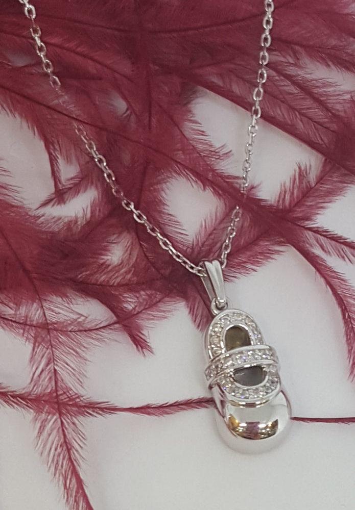 pırlanta modeli gümüş kolye
